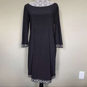 Long Sleeve Dress with Trim Detail